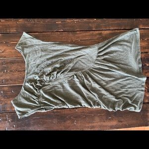 Deletes olive green ruched top large